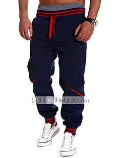 Men's Low Rise Micro-elastic Active Sweatpants Chinos Pants,Simple Active Loose Solid