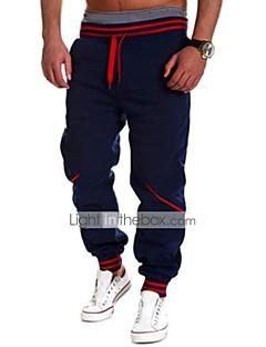 Pánské Jednoduchý Aktivní Mikro elastické Aktivní Tepláky Kalhoty chinos Kalhoty Volné Low Rise Jednobarevné