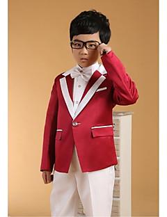 ホワイト コットン リングベアラースーツ - 6 含まれています ジャケット パンツ ベスト カマーバンド シャツ 蝶ネクタイ