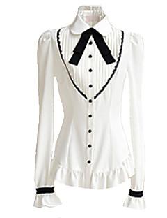 זול אופנת לוליטה-חולצה לוליטה מתוקה בגדי ריקוד נשים בנות לבן לוליטה אביזרים חולצה פּוֹלִיאֶסטֶר