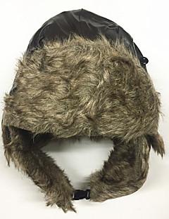 billige Trendy hatter-Unisex Fritid Skilue,Vinter Ensfarget Fuskepels PU Svart Brun