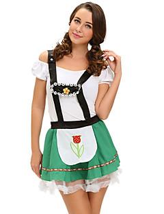 Oktoberfest Servitør/servitrise karriere Kostymer Cosplay Kostumer Party-kostyme Kvinnelig Halloween Oktoberfest Festival/høytid