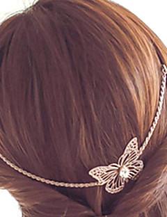 billige Trendy hårsmykker-Dame Vintage Søtt Fest Fritid Rhinstein Hårbånd Gylden