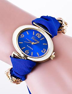 baratos -Mulheres Relógio de Moda Bracele Relógio Quartzo / Tecido Banda Flor Casual Preta Branco Vermelho Marrom Verde Rosa Amarelo Azul Marinho