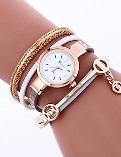 Kadın's Bilezik Saat Moda Saat Quartz Taşlı / imitasyon Pırlanta PU Bant İhtişam Bohem Halhal Siyah Beyaz Kırmızı Pembe