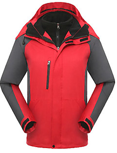 Men's Women's Hiking Jacket Waterproof Thermal / Warm Windproof Fleece Lining Tracksuit Coverall for Skiing Camping / Hiking Leisure