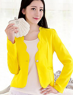 Women's Going out / Casual/Daily Casual Spring / Fall Blazer