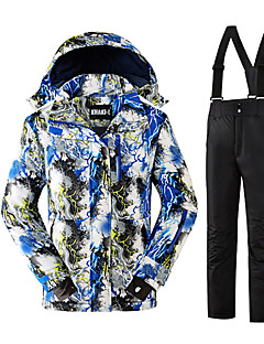 Calças & Jaquetas de Esqui Homens Esqui Esportes de Inverno Térmico/Quente Confortável Protecção Poliéster Conjuntos de Roupas