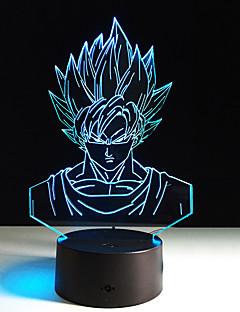 baratos Luzes de presente-1 Pça. Luz noturna 3D Tamanho Compacto / Cores Variáveis Artistíco / Moderno / Contemporâneo