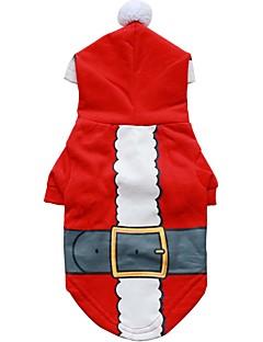 犬 パーカー 犬用ウェア キュート ファッション クリスマス キャラクター レッド