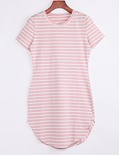 Women's Striped Short Sleeve Tunic Sexy Short T Shirt Dress
