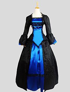billiga Lolitamode-Gotisk Lolita Victoriansk Dam Outfits Cosplay Långärmad Asymmetrisk Halloweenkostymer