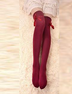 Ponožky a punčochy Klasická a tradiční lolita Šněrování Červená Lolita Příslušenství Punčocháče Mašle Pro Bavlna