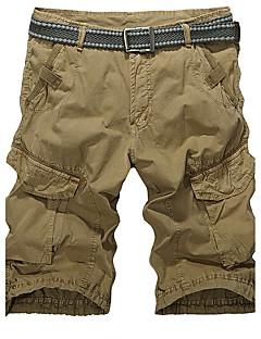 Herre Rett Tynn Store størrelser Joggebukser Shorts Bukser-Fritid/hverdag Sport Gatemote Aktiv Ensfarget Lavt liv Glidelås Knapp Bomull