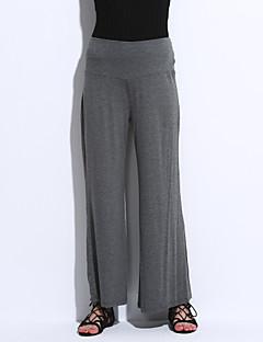 billige Lagersalg-Dame Store størrelser Bred Bukseben Jeans Bukser Ensfarget