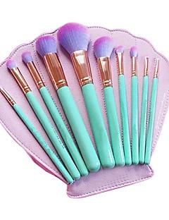 billige Sminkebørstesett-10pcs Makeup børster Profesjonell Børstesett / Rougebørste / Øyenskyggebørste Syntetisk hår / Kunstig fiber børste Økovennlig / / Tre