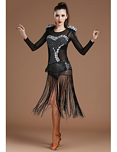 Shall We Jazz Leotards Women Spandex Tulle Crystals/Rhinestones Scarf Leotard