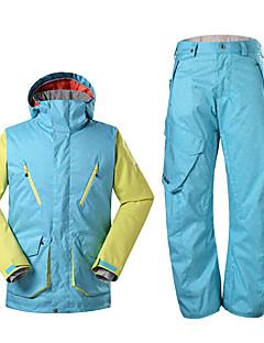 billiga Skid- och snowboardkläder-Herr Skidjacka Vattentät Håller värmen Vindtät Fleecefoder UV-Resistent Dragkedja fram Anti-Eradiation Bärbar Andningsfunktion Polyester
