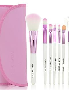 billige Sminkebørstesett-7pcs Makeup børster Profesjonell Sminkebørstesett Syntetisk hår / Kunstig fiber børste Begrenser bakterier