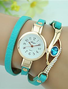 billige Armbåndsure-Dame Quartz Armbåndsur Imiteret Diamant Læder Bånd Vedhæng Mode Sort Hvid Blåt Rød Marine Rose