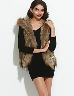 Χαμηλού Κόστους -Γυναικεία Γούνινο παλτό Εξόδου Βίντατζ - Μονόχρωμο