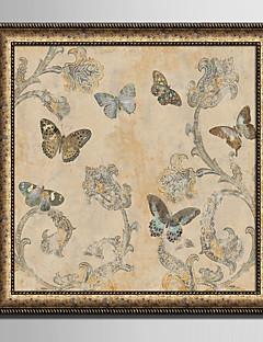 hesapli Hayvanlı Çerçeveli Resimler-Çiçek/Botanik Zwierzęcy Çerçeveli Tuval Çerçeve Seti Duvar Sanatı,PVC Malzeme Siyah Keçesiz Frame ile For Ev dekorasyonu çerçeve Sanat