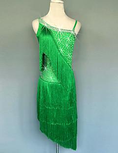 ラテンダンス ワンピース 女性用 演出 スパンデックス 1個 ノースリーブ ナチュラルウエスト ドレス