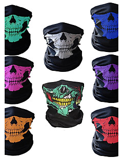 お買い得  帽子、バンダナ-バンダナ バイク 高通気性 抗紫外線 防塵 男女兼用 レッド スパンデックス