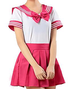 """billige Halloweenkostymer-Inspirert av Sailor Moon Cosplay Anime  """"Cosplay-kostymer"""" Cosplay Klær Stripet Kortermet Trøye / Skjørte Til Herre / Dame"""
