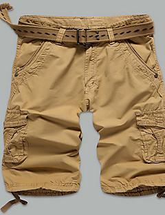 Herre Rett Tynn Store størrelser Chinos Shorts Bukser-Fritid/hverdag Strand Sport Enkel Gatemote Aktiv Ensfarget Lavt liv Glidelås Knapp