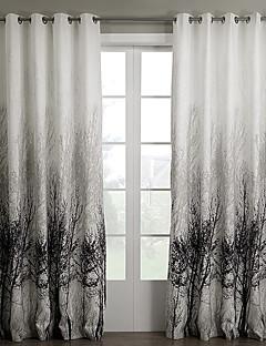 billige Forede Gardiner-gardiner gardiner Soverom Polyester Mønstret