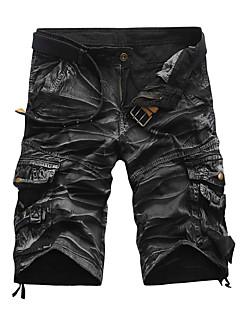 billige Herremote og klær-Herre Aktiv Punk & Gotisk Bomull Rett Shorts Bukser - Flettet, Kamuflasje