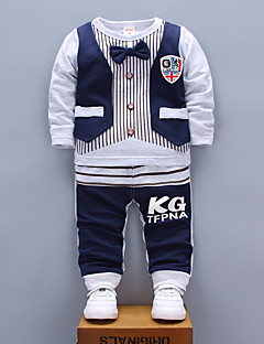Boys' Sports Casual/Daily Print Sets,Cotton Spring Fall Long Sleeve Clothing Set
