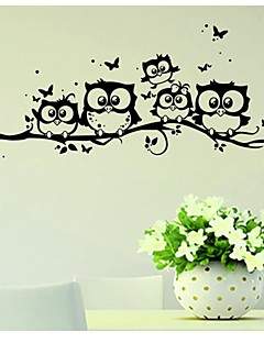 cheap Animal Wall Stickers-Animals Wall Stickers Plane Wall Stickers Decorative Wall Stickers, Vinyl Home Decoration Wall Decal Wall Glass/Bathroom