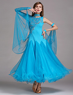 cheap Ballroom Dance Wear-Ballroom Dance Dresses Women's Performance Spandex Lace Tulle Dress