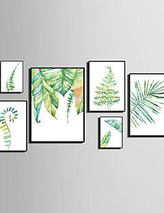 ieftine Artă Animale Înrămată-Pânză Înrămată Set Înrămat Abstract Animale Floral/Botanic Wall Art, PVC Material cu Frame Pagina de decorare cadru Art Sufragerie