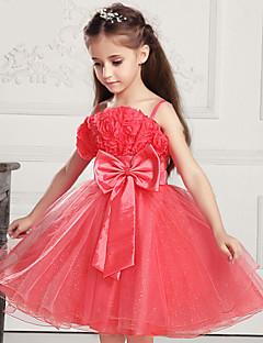 お買い得  子供用ファッション-女の子の コットン混/メッシュ ドレス , 夏 ノースリーブ