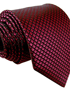 billige Redaksjonens valg-menns vintage søte fest arbeid casual rayon slips solid jacquard, grunnleggende