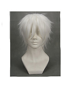 Perruques de Cosplay NO.6 Cosplay Blanc Court Anime Perruques de Cosplay 30 CM Masculin / Féminin