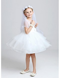 cheap Wedding Veils-Two-tier Wedding Veil Communion Veils With Ruched Tulle