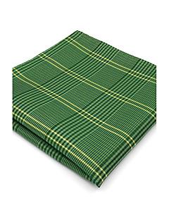 Herrer Slips og halstørkle,Vintage Søtt Fest Kontor Fritid Rayon,Rutet Grønn