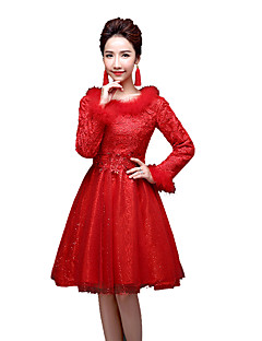 Winter Sweet Lolita Coat Princess Lace Women's One Piece Dress Cosplay Blue Purple Red Fuschia Golden Poet Long Sleeves