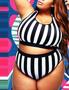 Kvinner Fargeblokk Dytt opp Grime Bikinikjole Polyester