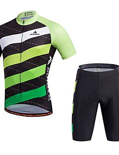 Miloto Sykkeljersey med shorts Herre Kort Erme Sykkel Shorts Skjorte Genser Jersey Topper Bunner KlessettFort Tørring Fukt
