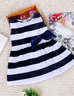 お買い得  子供用ファッション-Girl's Doll Collar Stripe Dress