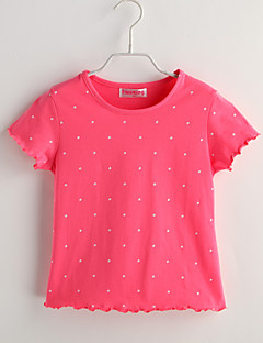 Baby Casual/Daily Polka Dot Tee-Cotton-Summer-Red