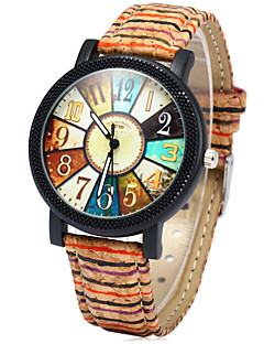 Damen Modeuhr Uhr Holz Quartz Mehrfarbig Holz Band Regenbogen Mehrfarbig