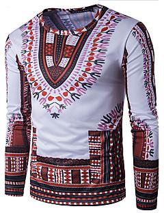 Druck Einfach Boho Sport Lässig/Alltäglich T-shirt,Sweetheart Langarm Baumwolle