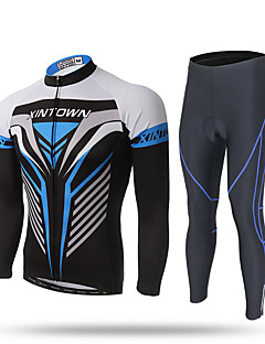 cheap Cycling Clothing-XINTOWN Men's Long Sleeves Cycling Jersey with Tights Bike Jersey Pants / Trousers Clothing Suits, Quick Dry, Ultraviolet Resistant,