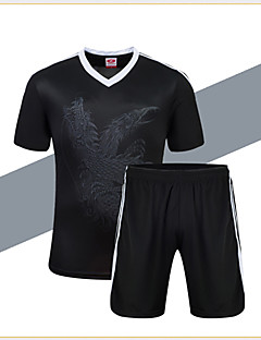לגברים כדורגל מכנסי שורט + חולצה מדים בסטים נושם ייבוש מהיר חומרים קלים אביב קיץ סתיו חורף קלאסי טרילן כדורגל ריצה